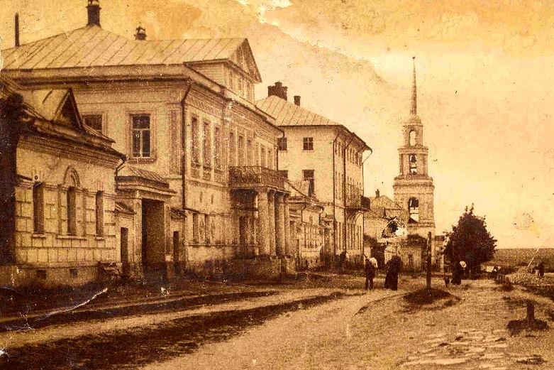 Дворянская улица в Лебедяни. Фото 1900-х годов