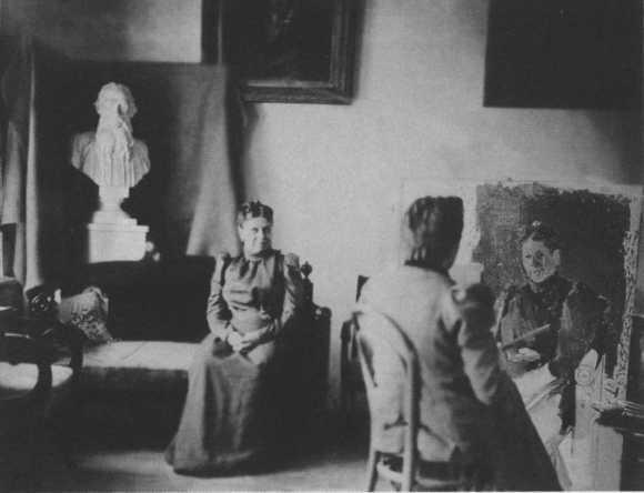 Юлия Игумнова пишет портрет