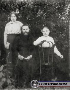 Фото. О. Петр Минервин с семьей, фото из семейного архива, около 1910 гг.