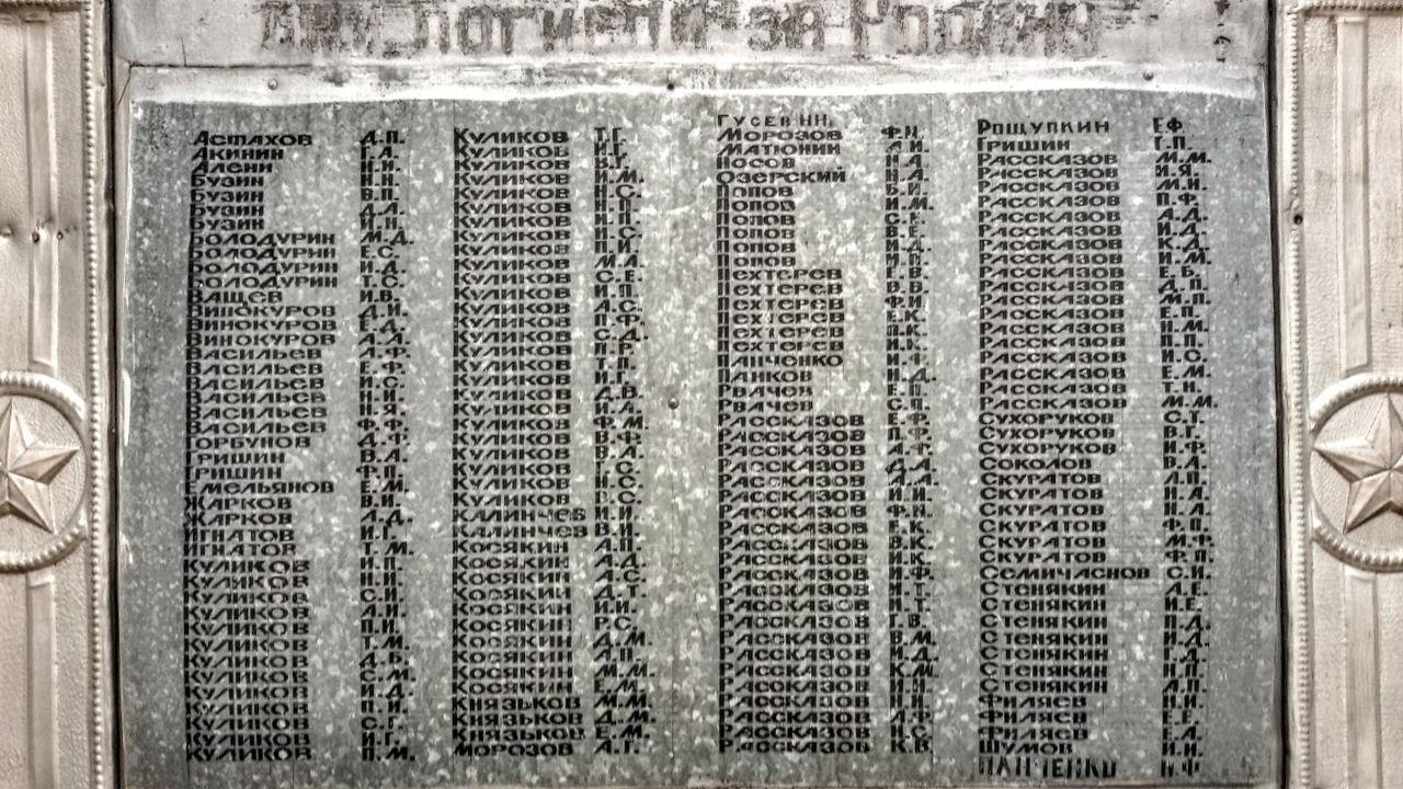 имена на обелиске (Куликовка 2)