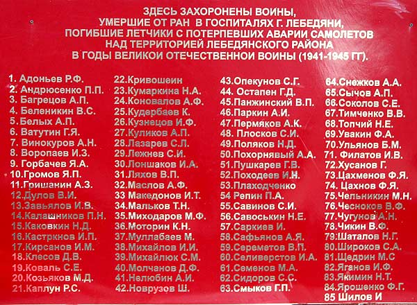 Мемориал павшим в ВОВ