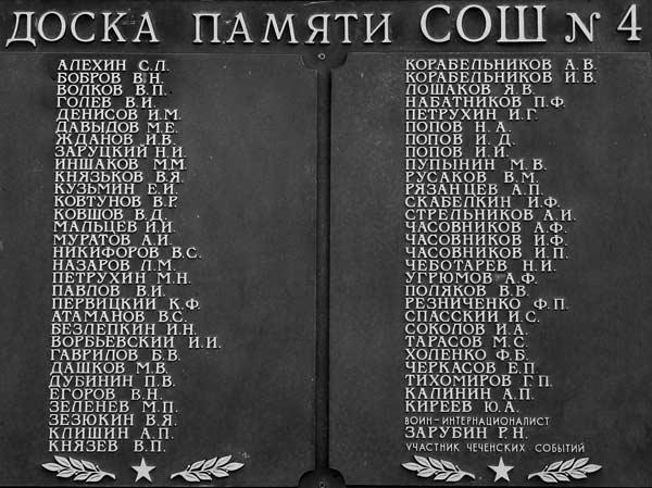 Обелиск в память об учащихся и учителях школы, погибших в Великой Отечественной войне 1941-1945 годов.