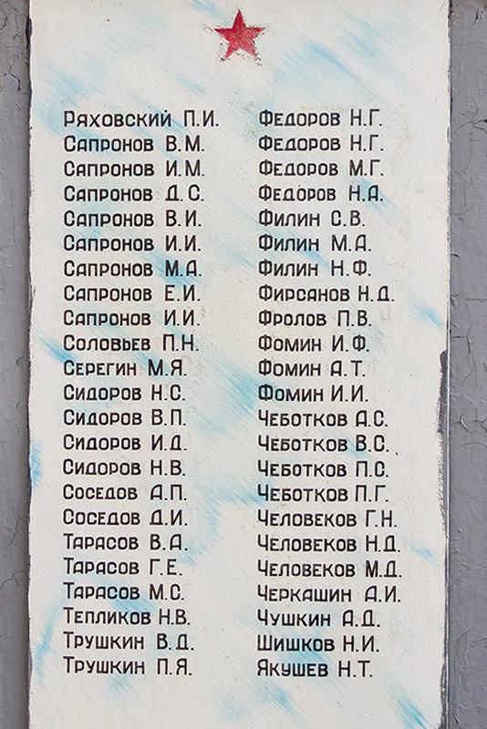 Памятник односельчанам с. Хорошовка
