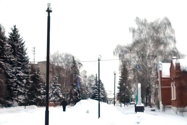 улица разбитых фонарей в Лебедяни