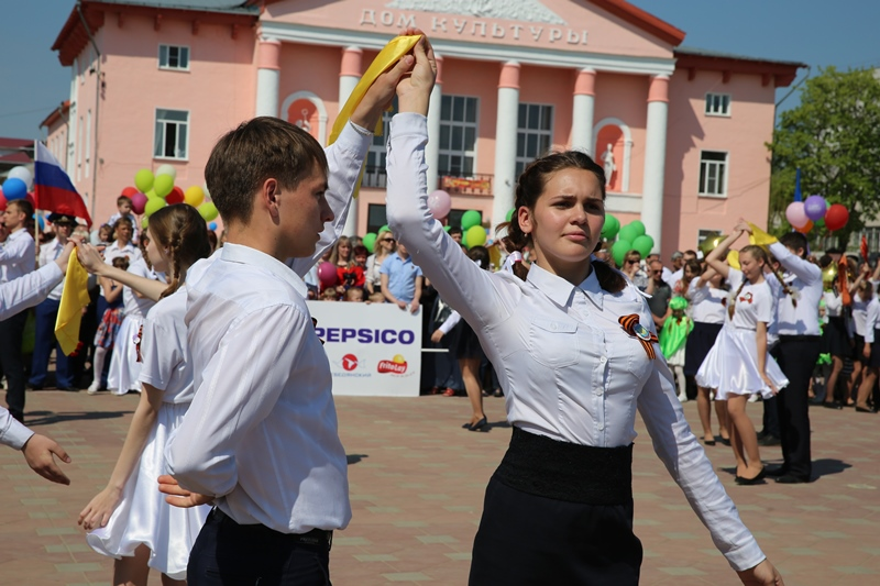 День Победы в Лебедяни.