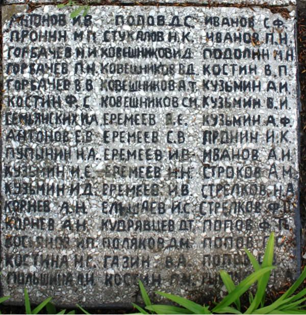 доска с именами односельчан