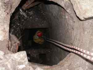 дыра на месте городской водокачки в Лебедяни