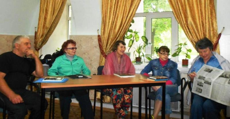 заседание литературного клуба Лебедянь