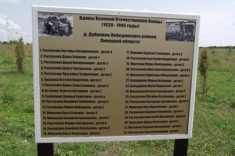 памятная доска в Дубровке