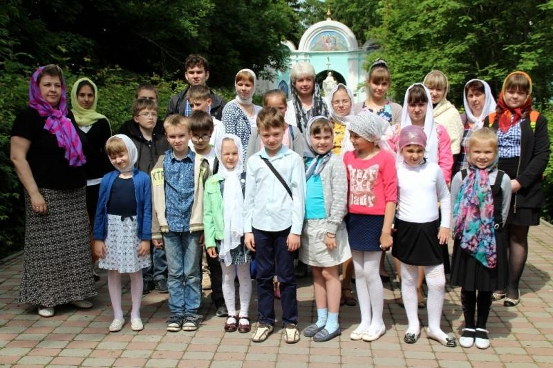 воспитанники воскресной школы в Лебедяни