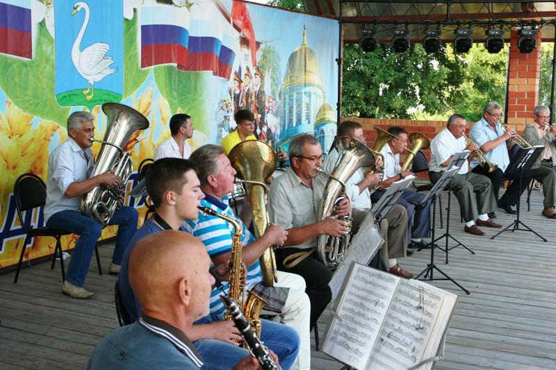 духовой оркестр лебедянского рдк на Дне города 23 июля 2016 года
