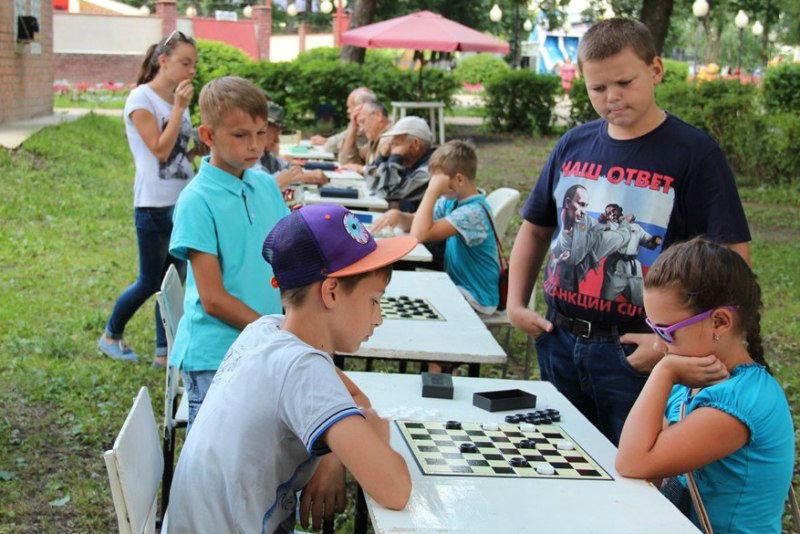 турнир по шашкам в Лебедяни 24 июля