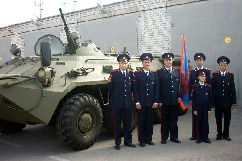 в Липецке прошел смотр казачьих обществ региона