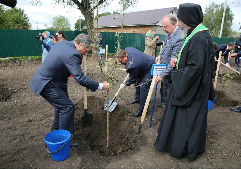 На родине преподобного силуана афонского в селе шовское посадили яблоневый сад