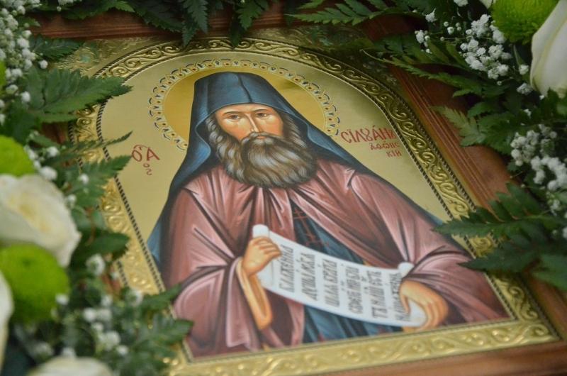 икона преподобного силуана афонского