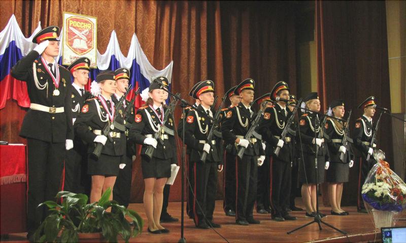 кадеты Большепоповской средней школы
