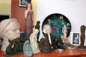 скульптурные работы Валерии Ивановны Морозовой в фондах лебедянского краеведческого музея