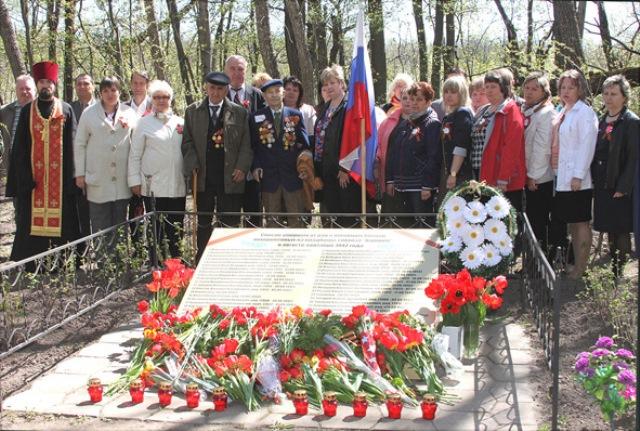 в мае 2015 г. в поселке Агроном благоустроили воинское кладбище