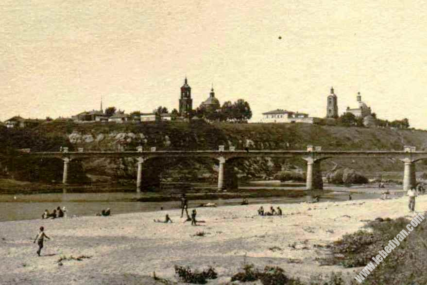 Казенный мост в Лебедяни (фото 1910-х годов)