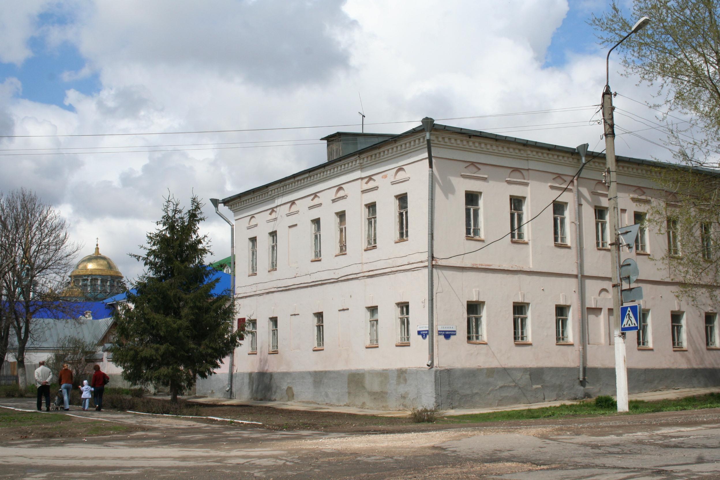 Уездное училище (сейчас средняя школа №2), г. Лебедянь