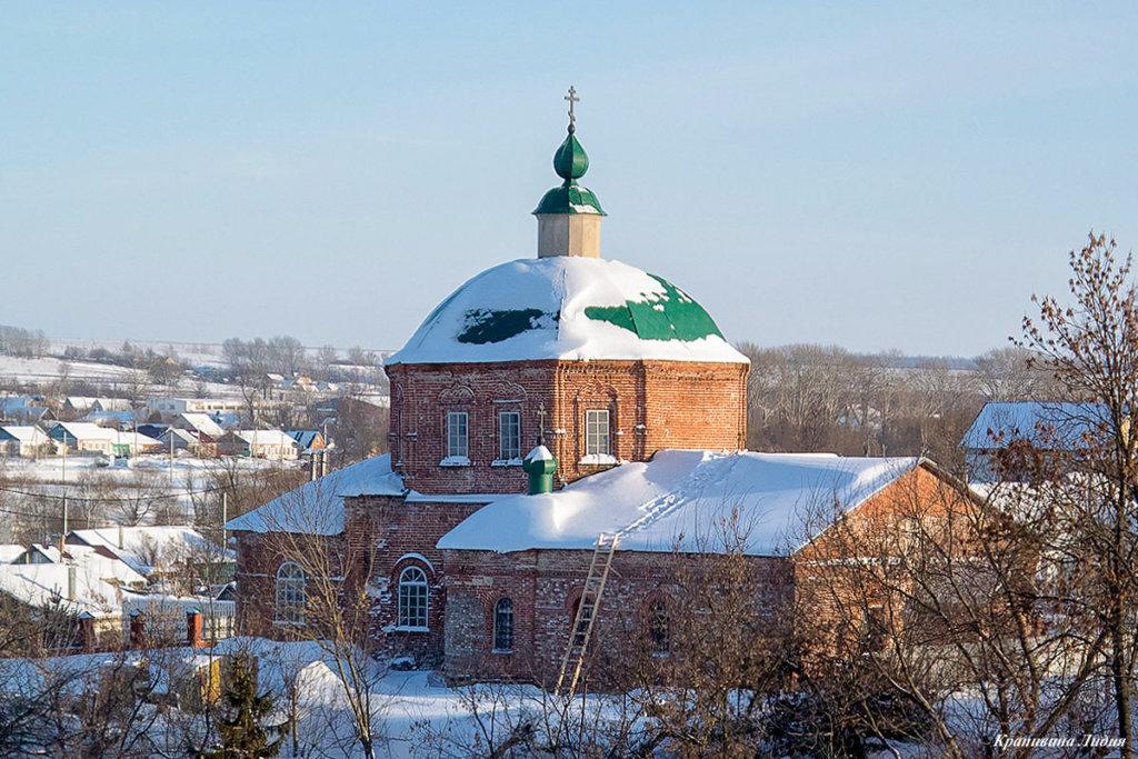 Церковь Рождества Богородицы (нач. XVIII в.) (ул. Елецкая, 2). Зима.