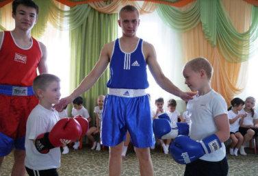 Урок бокса в детском саду