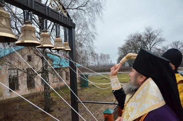 Освящение колоколов в Агрономе