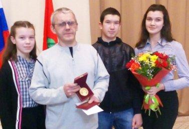 Вячеслав Миронов с детьми