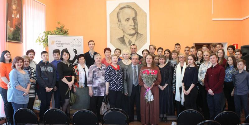 концерт Виктора Аграновича и Ларисы Черновой в Лебедяни