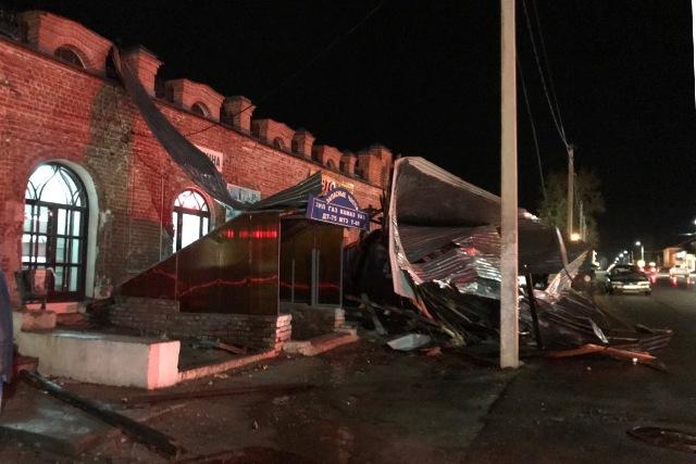 последствия урагана 21 апреля в Лебедяни