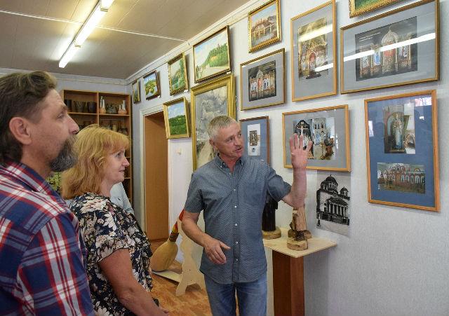 Выставка Александра Коновалова в Лебедяни (июль 2018)