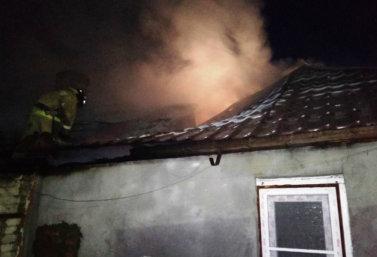 пожар в д. Нижнее Брусланово 22 ноября 2018 г.