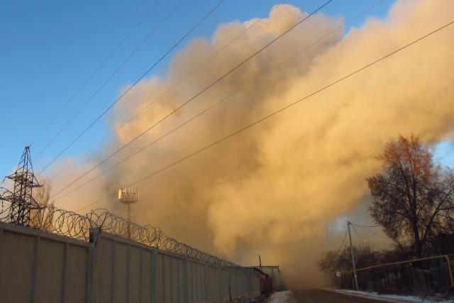 последствия ночного пожара в Лебедяни 30 ноября