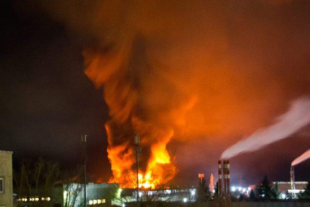 30 ноября в Лебедяни горел склад