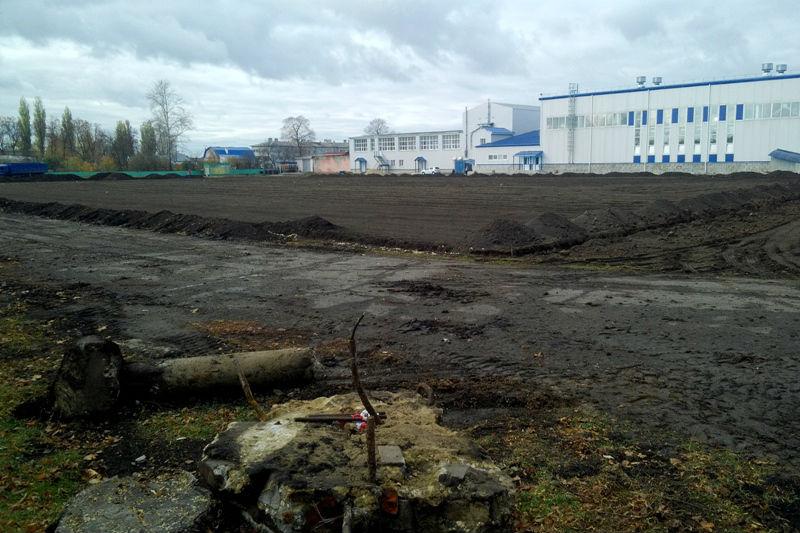 Реконструкция стадиона в Лебедяни (2018)