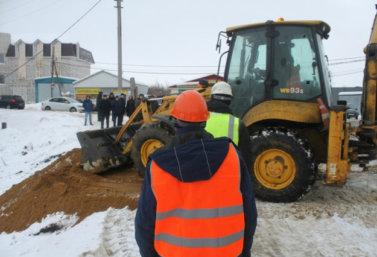 Церемония закладки нового моста в Лебедяни (январь 2018)