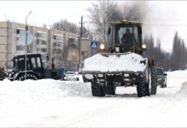 уборка снега в Лебедяни