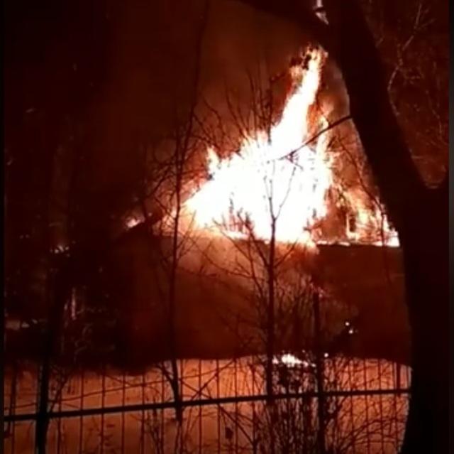 В селе Большие Избищи сгорел дом
