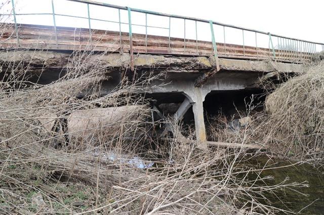 железобетонный мост в селе Куймань