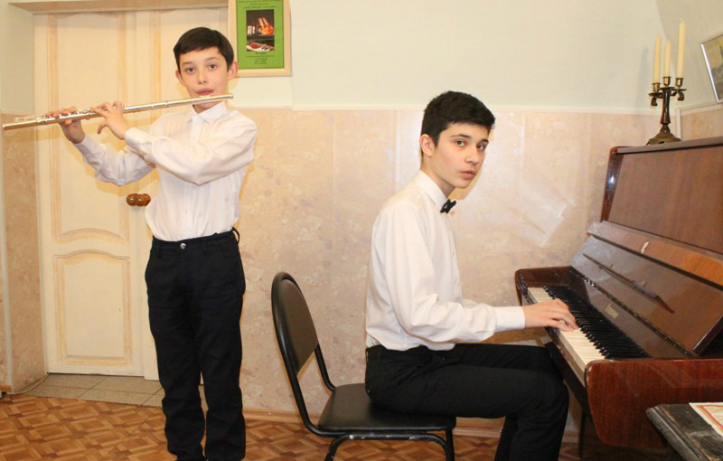 концерт учеников музыкальной школы в Доме Игумновых