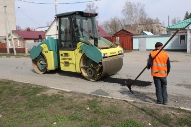 ремонт дорожного полотна на улицах Лебедяни в апреле 2019 года