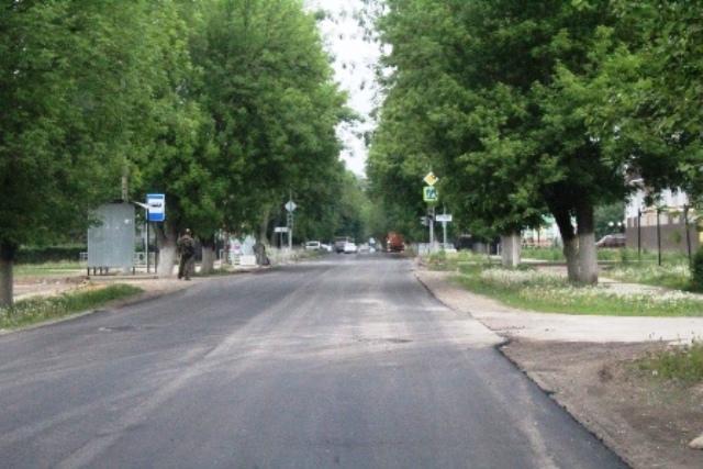Новый асфальт на улице Машиностроителей в Лебедяни