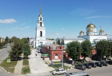 Лебедянь летом. Вид на Ново-Казанский собор