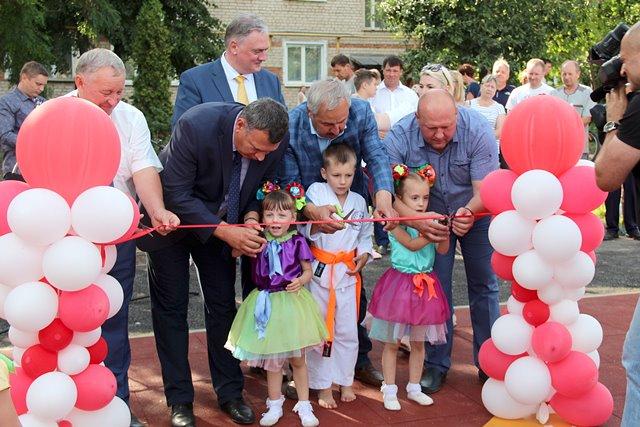 открытие детской площадки в День города Лебедянь (2019)