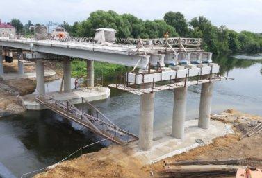 строительство моста в городе Лебедянь