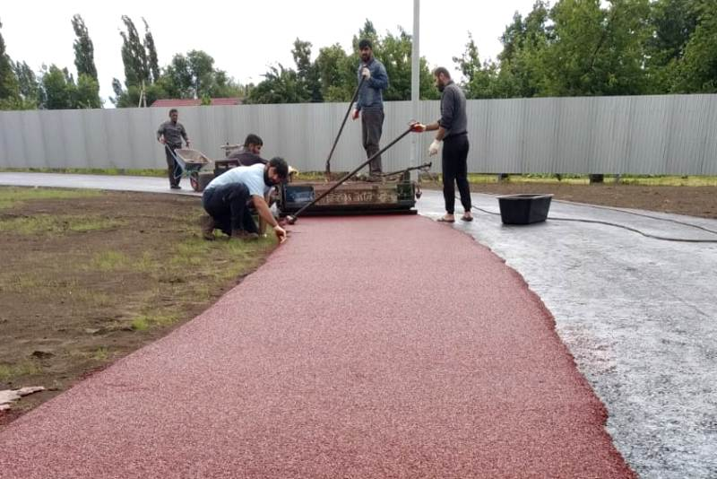 Реконструкция стадиона в г. Лебедянь