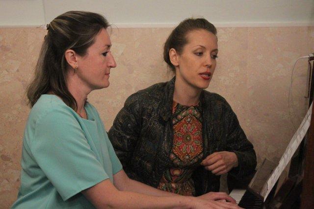 Олеся Денисова и Ирина Попова-Агбаш