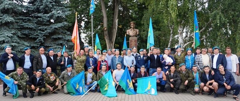 В День ВДВ, 2 августа, в городе Лебедянь открыли памятник Маргелову