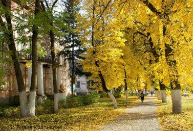 Золотая осень в Лебедяни (фото Лидии Крапивиной)
