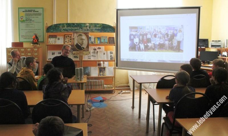 """Школьникам рассказали о проекте """"Лебедянские художники"""""""